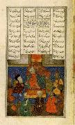 Iskander Meets with the Sages,from the Khamsa of Nizami