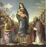 The Virgin and Child Adored by Saints Jerome and Zenobius (mk05)