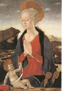 Alessio Baldovinetti The Virgin and Child (mk05) oil painting on canvas