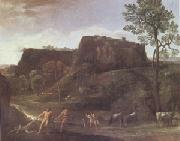 Domenichino Landscape with Hercules and Achelous (mk05) oil painting reproduction
