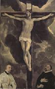 Christ on the Cross Adored by Two Donors (mk05), El Greco