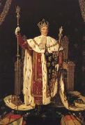 Charles X in his Coronation Robes (mk04), Jean Auguste Dominique Ingres