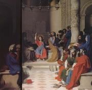 Jesus among the Scribes (mk04), Jean Auguste Dominique Ingres