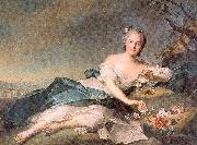 Jean Marc Nattier Henrietta of France as Flora oil painting reproduction