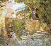 Nono and Marthe in the Garden with Madame Lebasque