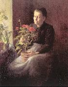 Woman with Geraniums