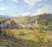 Metcalf, Willard Leroy The Village- September Morning oil painting on canvas