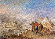 Michau, Theobald Winter Landscape oil painting reproduction