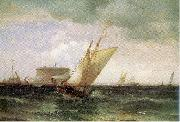 Moran, Edward Shipping in New York Harbor oil painting
