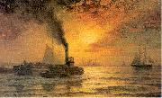 Moran, Edward New York Harbor oil painting