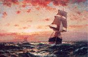 Moran, Edward Ships at Sea oil painting