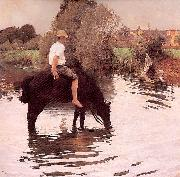 Young Peasant Taking his Horse to the Watering Hole