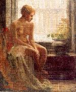 Nude Seated by a Window, Mulhaupt, Frederick John