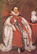 James I of England, Mytens, Daniel the Elder