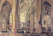 Interior of the Cathedral at Antwerp