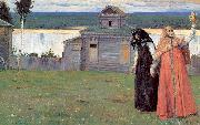 Nesterov, Mikhail In Small and Secluded Convents oil painting