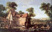 OUDRY, Jean-Baptiste The Farm oil painting reproduction