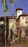 Ortega, Martin Rico y The Ladies' Tower in the Alhambra, Granada oil painting