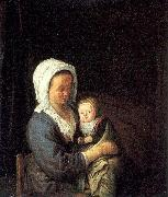 Woman Holding a Child in her Lap