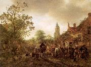 Ostade, Isaack Jansz. van The Halt at the Inn oil painting