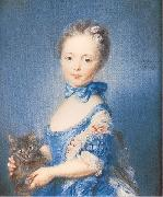 PERRONNEAU, Jean-Baptiste A Girl with a Kitten oil painting