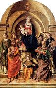 Virgin and Child Surrounded by Saints