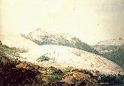 Pars, William The Rhone Glacier and the Source of the Rhone oil painting artist