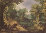 Paul Bril Stag Hunt (mk05) oil painting