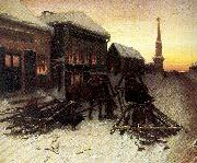 Perov, Vasily The Last Tavern at the City Gates oil painting reproduction