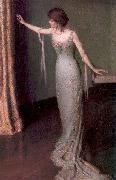 Perry, Lilla Calbot Lady in an Evening Dress oil painting artist