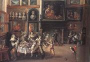 Peter Paul Rubens The Great Salon of Nicolaas Rockox's House (mk01) oil painting on canvas