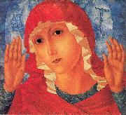 Petrov-Vodkin, Kozma Our Lady- Tenderness of Cruel Hearts oil painting