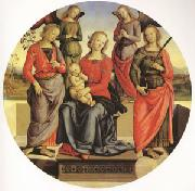 The Virgin and child Surrounded by Two Angels (mk05), Pietro Perugino