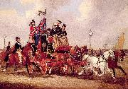 Pollard, James The Last Mail Leaving Newcastle, July 5, 1847 oil painting