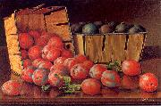 Prentice, Levi Wells Baskets of Plums on a Tabletop oil painting