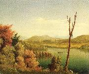 Prentice, Levi Wells Andirondack Lake oil painting