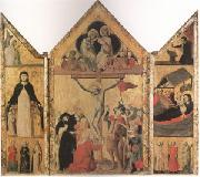Shool of Bologna Triptych with the Crucifixion (mk05) oil painting