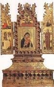 Simone Dei Crocefissi Virgin and Child with Saints a triptych (mk05) oil painting