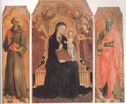 Stefano di Giovanni Sassetta Viirgin and child Enthroned with six Angels (mk05) oil painting