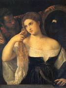 Titian A Woman at Her Toilet (mk05) oil painting
