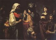 VALENTIN DE BOULOGNE The Fortune Teller (mk05) oil painting reproduction