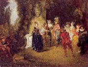WATTEAU, Antoine The French Theater oil painting reproduction