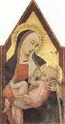 Ambrogio Lorenzetti Nuring Madonna (mk08) oil painting reproduction