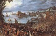 BRUEGHEL, Jan the Elder Great Fish-Market (mk08) oil painting on canvas