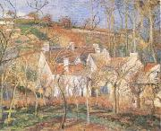 Camille Pissarro Red Roofs(Village Cornet,Impression of Winter) (mk09) oil painting on canvas