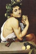 Caravaggio The young Bacchus (mk08) oil painting on canvas