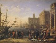 Claude Lorrain View of a Port with the Capitol (mk05)
