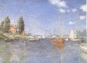 The Red Boats Argenteuil (mk09), Claude Monet