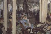 Women,on a Cafe Terrace (san16), Edgar Degas