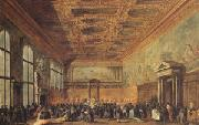 rThe Doge Grants an Andience in the Sala del Collegin in the Ducal Palace (mk05)